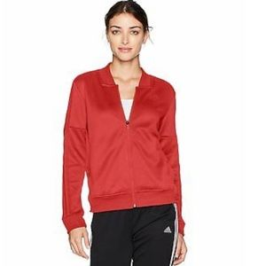 Adidas Red Orange Jacket With Button Detailing